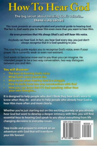 back cover of how to hear god